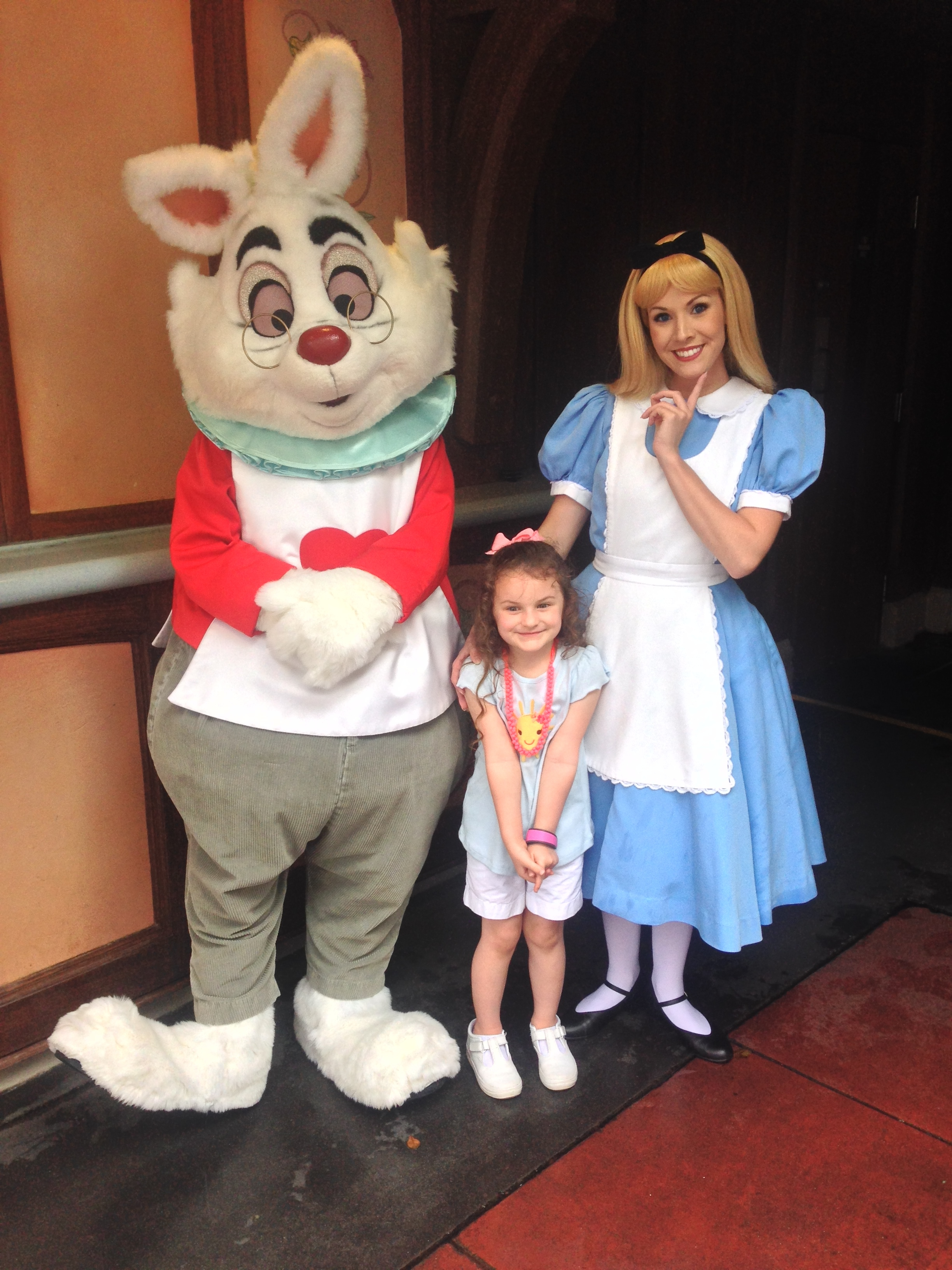 Meeting Alice in Wonderland and the White Rabbit
