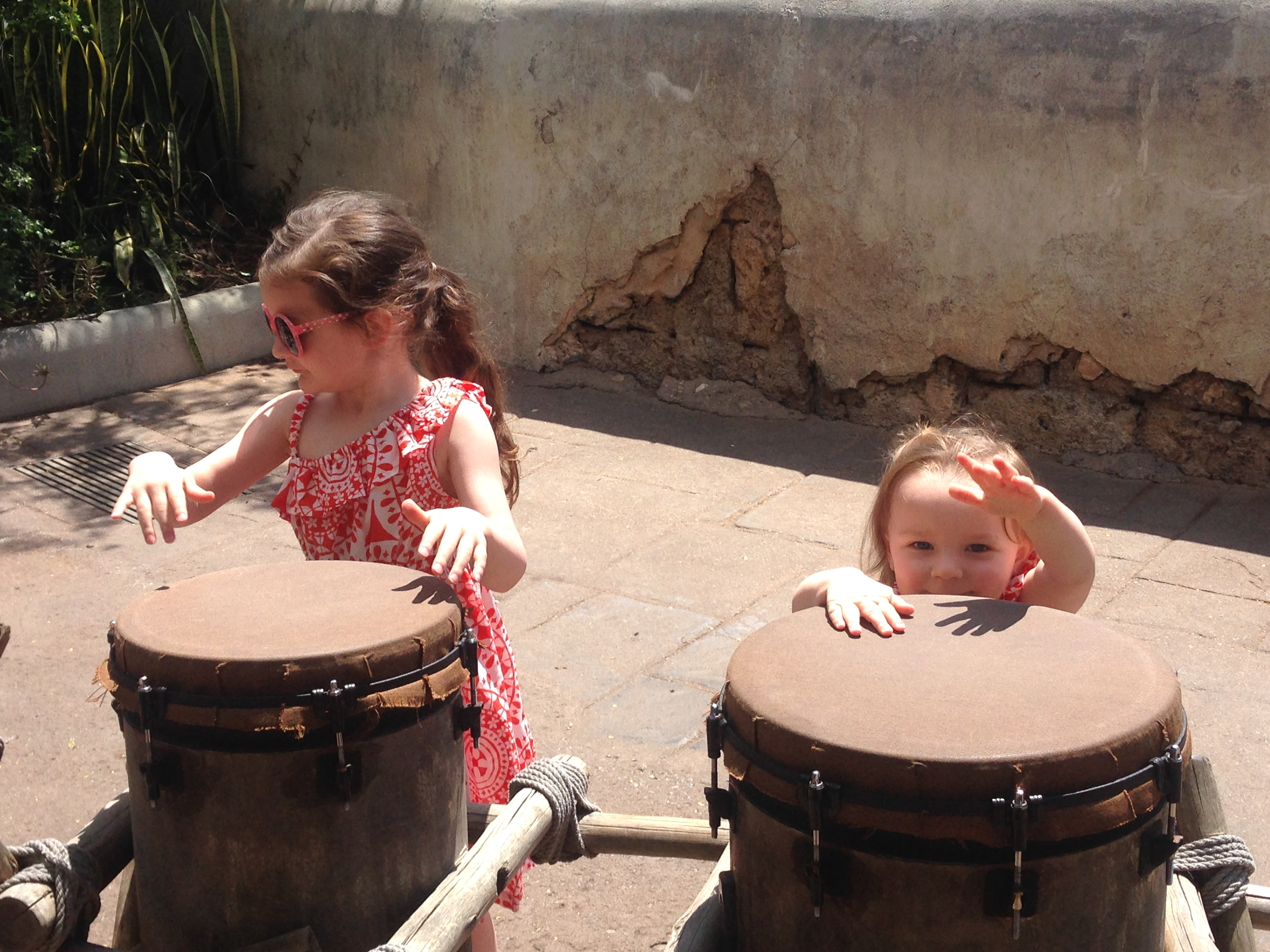 A quick break to play some fun musical instruments