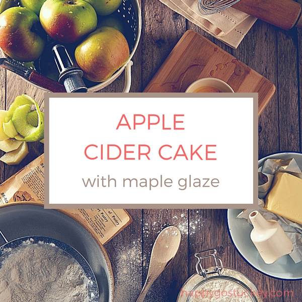 Apple Cider Cake with Maple Glaze