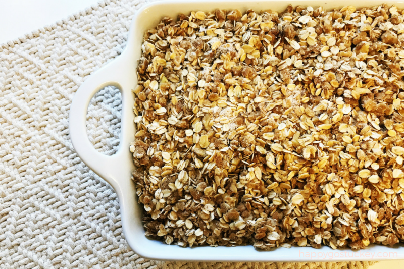 On Being Settled & Apple Crisp