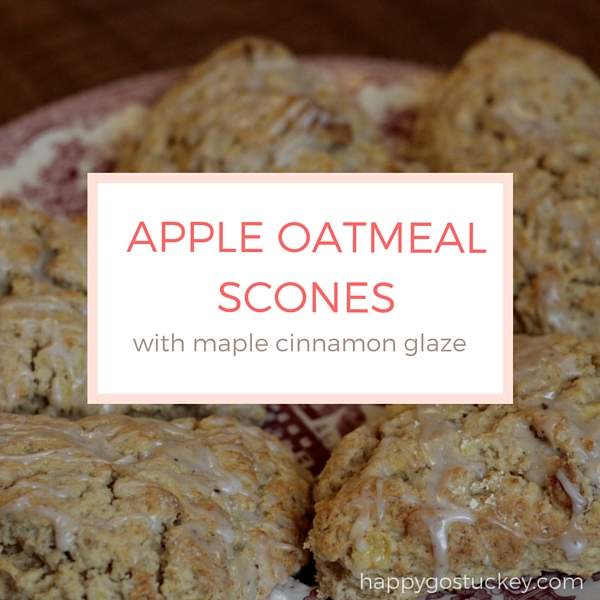 Apple Oatmeal Scones with Maple-Cinnamon Glaze