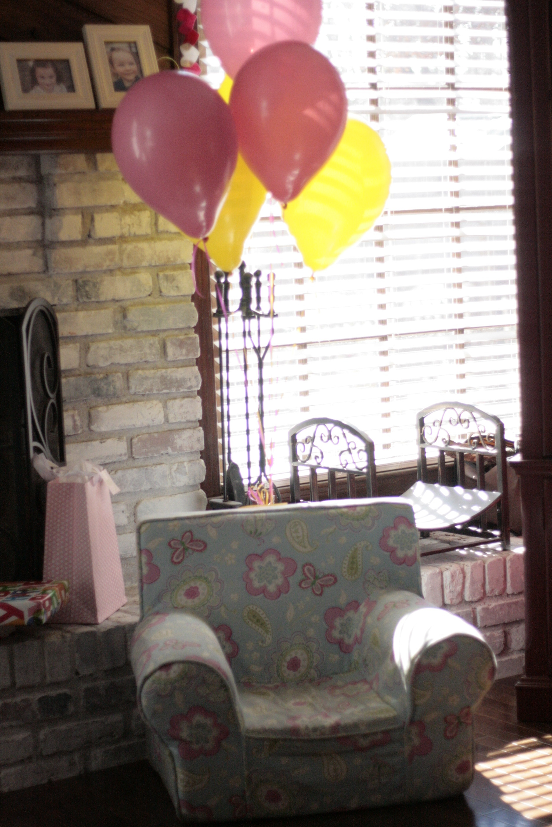 Of all the decor, I think these balloons made her the happiest!