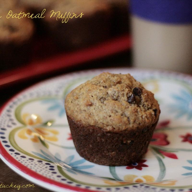Banana Oatmeal Muffins (Healthy-ish!)
