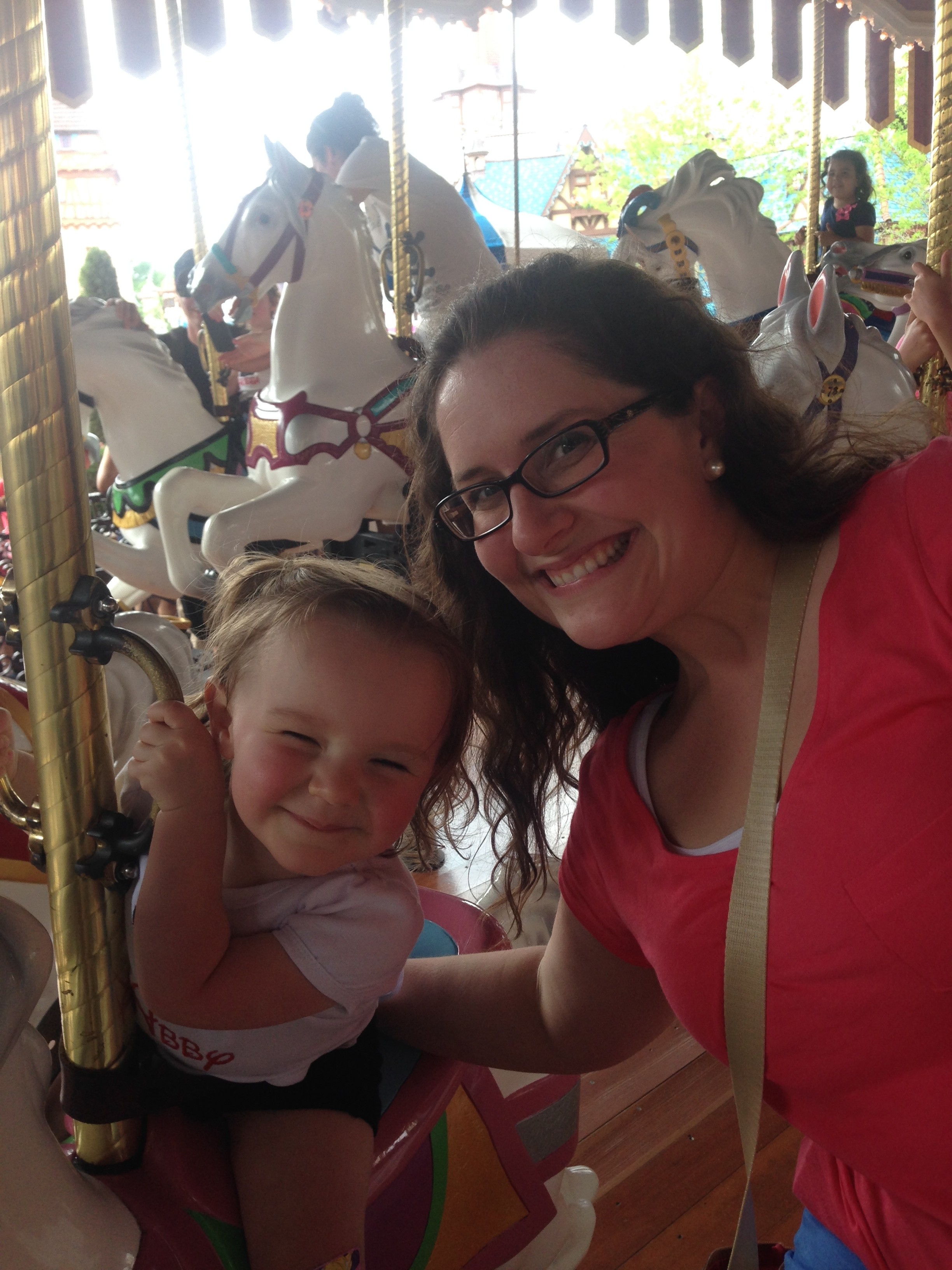 And of course the Carousel is a family favorite. We always ride this more than any other ride. I'm sure I'll be a little sad when it isn't their favorite anymore.
