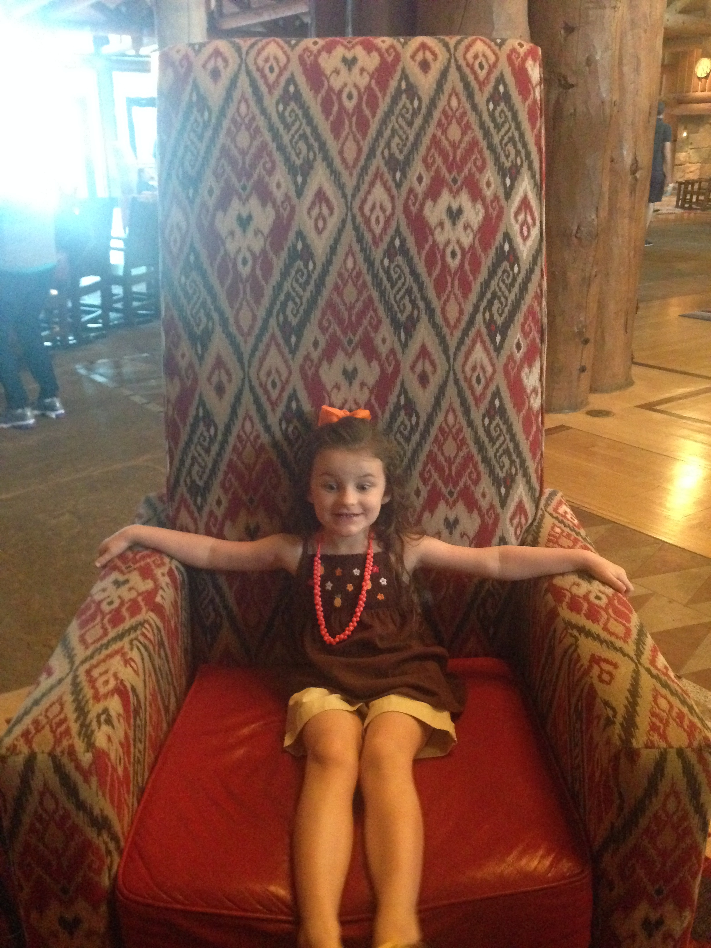 Huge chairs in the lobby!