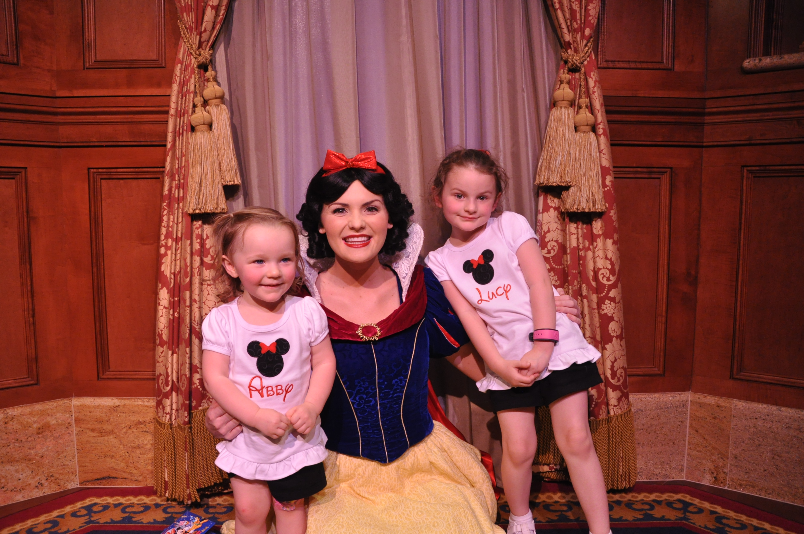 "Meeting Snow White. She was so sweet to the girls and they really remembered that about her. She was a ""good"" Snow White."