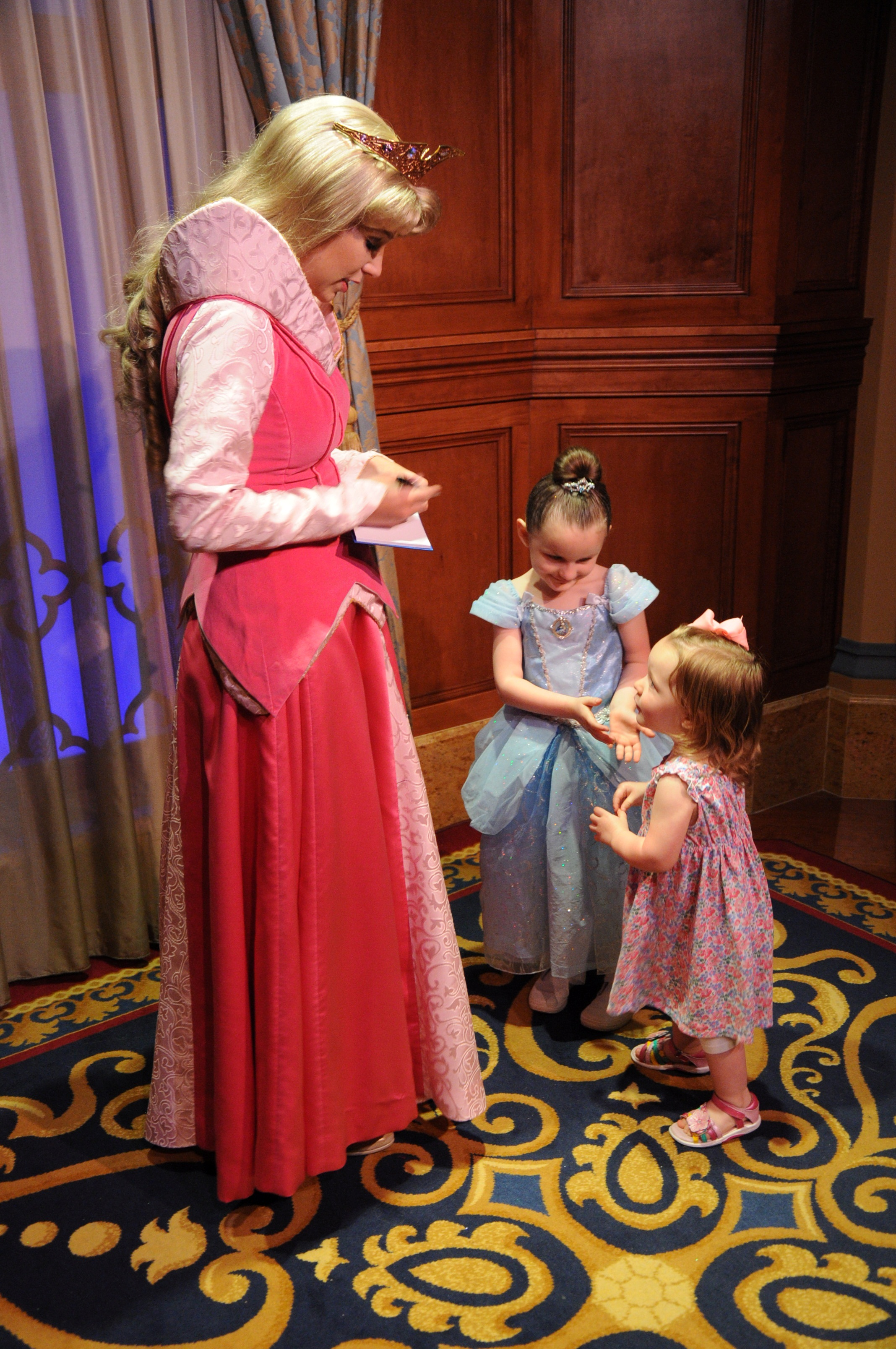 This was so cute, Lucy introduced Aurora to Abby, and then curtseyed.