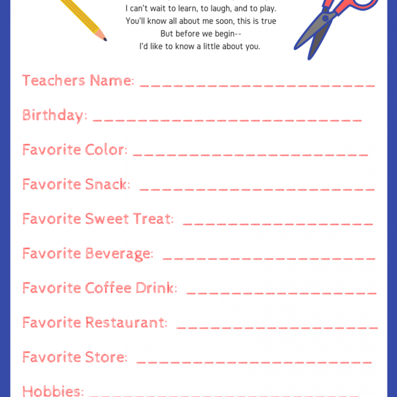 Taking Care of Teachers: Free Teacher Printable
