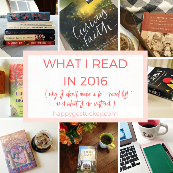 What I Read in 2016 (why I don't make a to-read list and what I do instead.)