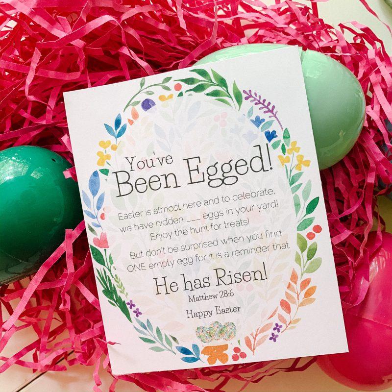 Egg your Neighbors & Spread Some Joy. (free printable)