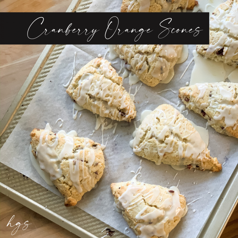 Warm up with Cranberry Orange Scones